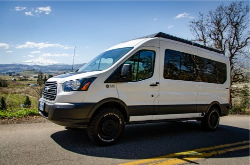 All new 4wd Ford Transit by Axis Vehicle Outfitters, sleeps 5