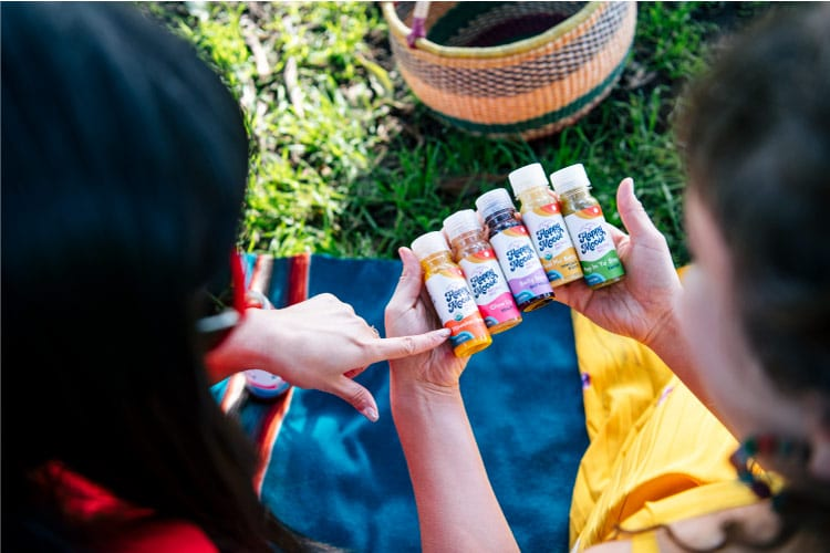 Cold pressed juice from Happy Moose with your campervan rental