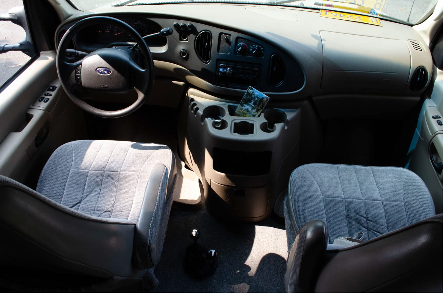 Dash of a Ford E-Series 4x4 Econoline Sportsmobile EB50 Layout Campervan conversion for sale