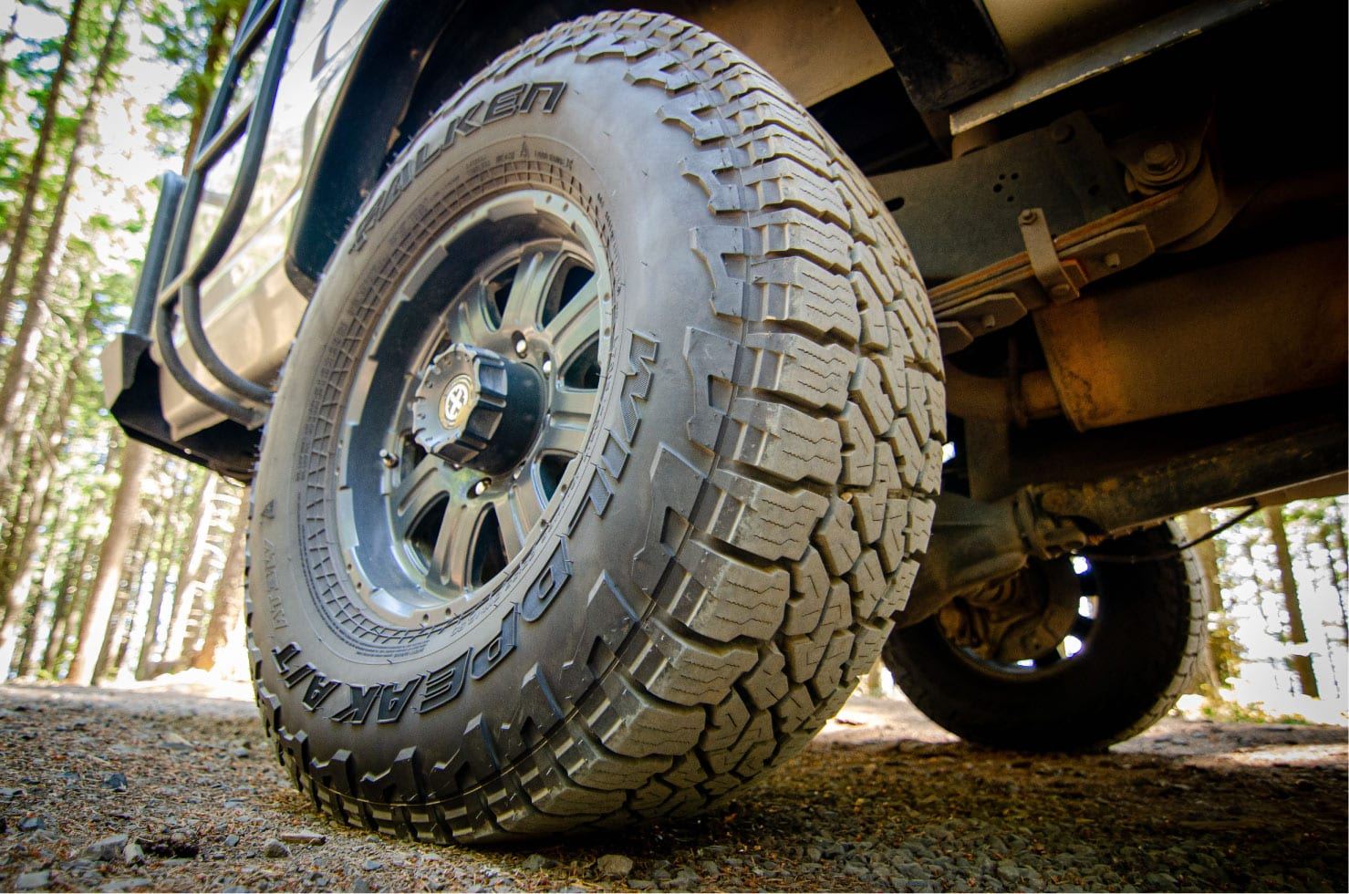 Falken Wildpeak tires on a Ford E-Series 4x4 Econoline Sportsmobile EB50 Layout Campervan conversion for sale
