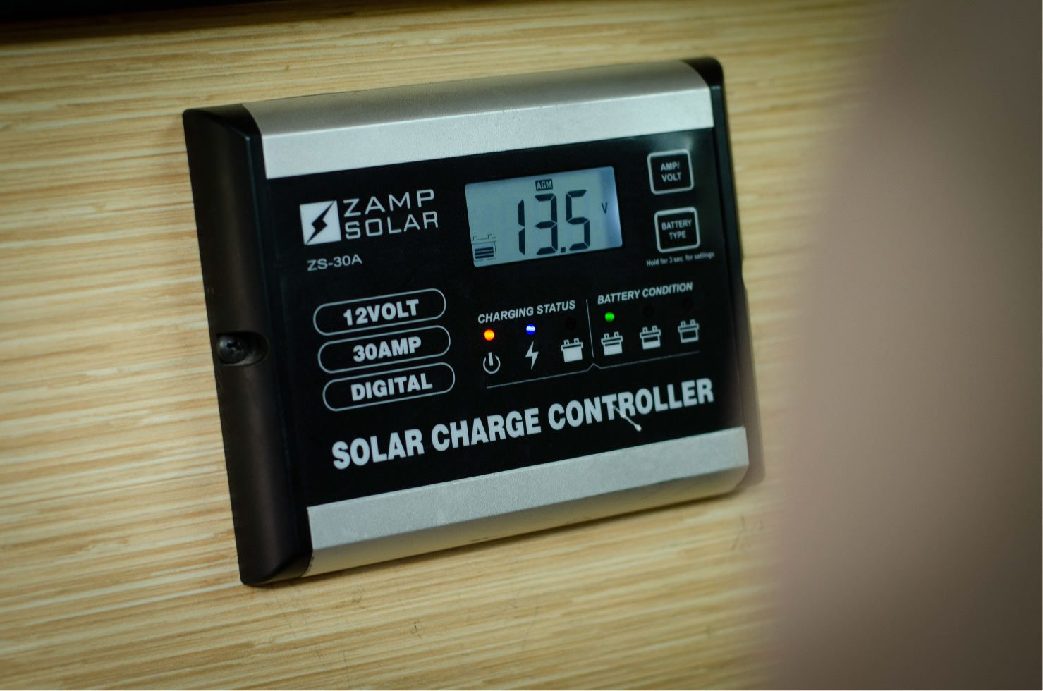 Zamp Solar controller on a Ford E-Series 4x4 Econoline Sportsmobile RB50 Layout Campervan conversion for sale